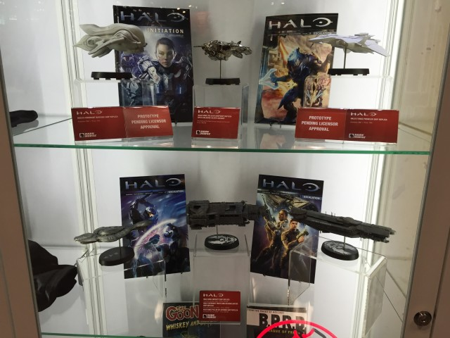 NYCC 2015 Dark Horse Booth Halo Ship Replicas Display