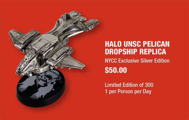 Dark Horse New York Comic Con Halo Silver Pelican Exclusive