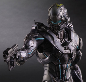 Close-Up of Play Arts Kai Spartan Locke Figure