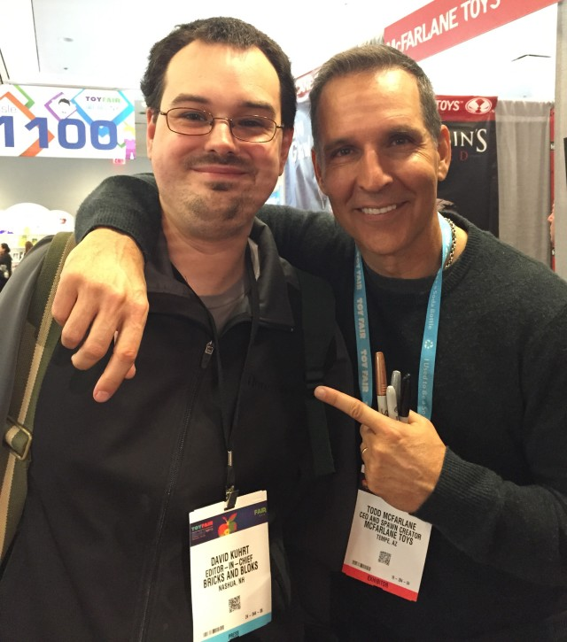 New York Toy Fair 2016 Dabid Meets Todd McFarlane
