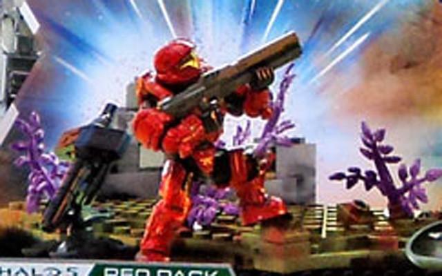 Halo Mega Bloks Red Spartan Helljumper Figure
