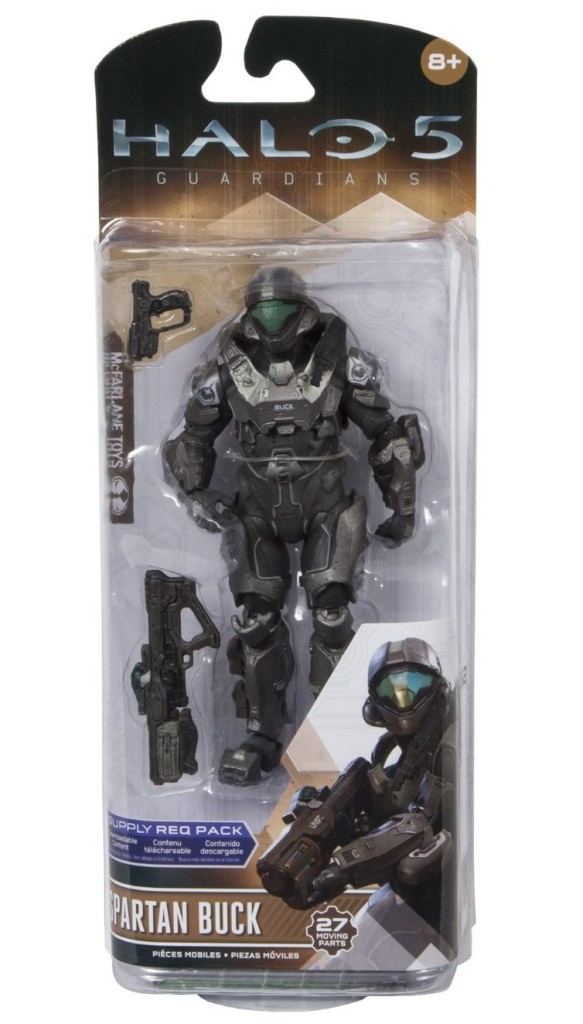 Halo 5 Series 2 Spartan Buck Figure Packaged
