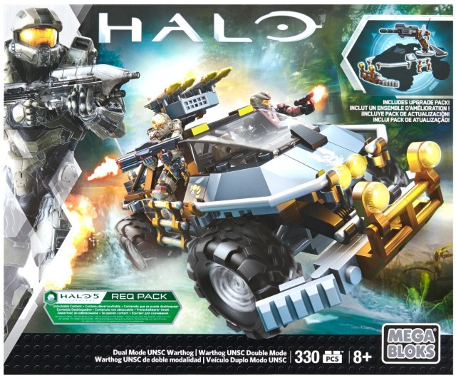 Halo Mega Bloks Dual Mode UNSC Warthog Set Box