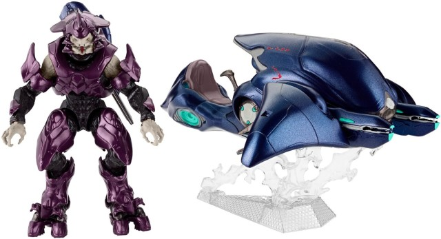 Halo Ghost Mattel Vehice with Six Inch Elite Figure