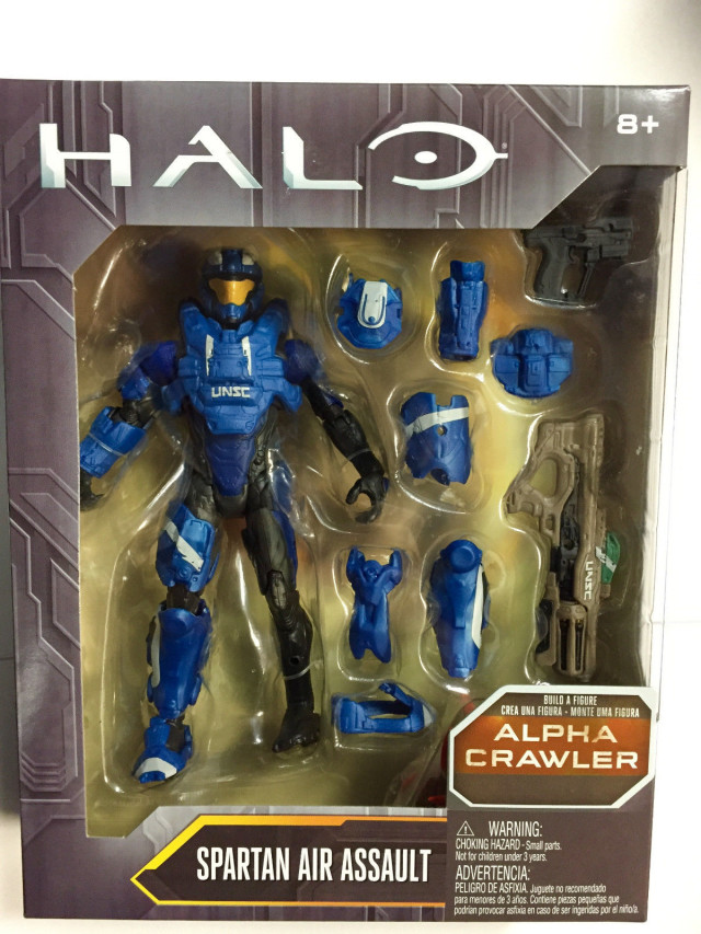 Halo Mattel Air Assault Spartan Blue Figure Packaged