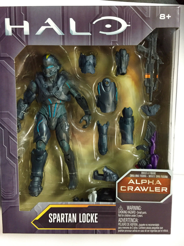 Halo Mattel Spartan Locke Figure Packaged Series 1