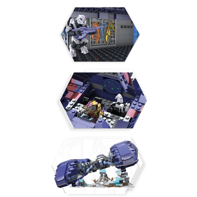 Halo Mega Bloks Covenant Spirit Set Interior