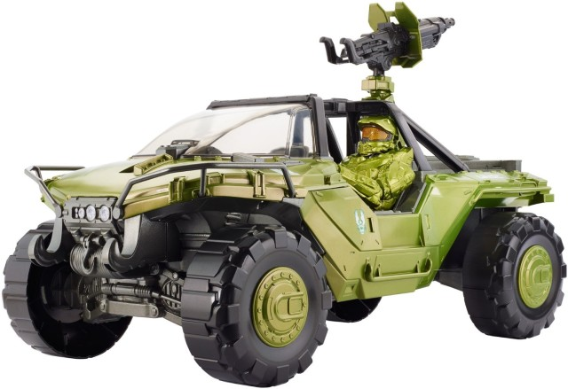 Halo UNSC Warthog with Master Chief Figure Mattel