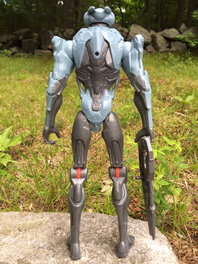 Back of Promethean Soldier 12 Inch Figure