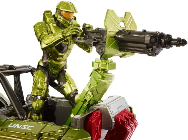 Master Chief Figure with Mattel Halo Warthog 12 Inch Scale