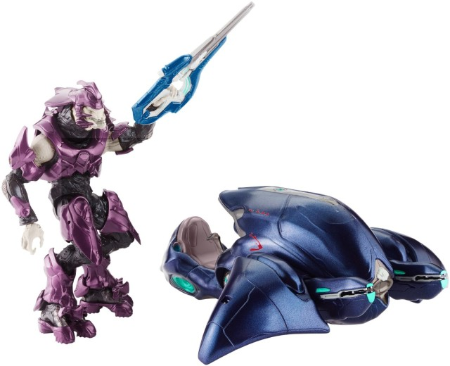 Mattel Halo Ghost Vehicle and Elite Officer Figure