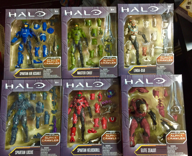 Mattel Halo Series 1 6 Inch Figures Packaged