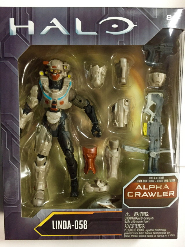 Mattel Halo Spartan Linda 058 Figure Packaged