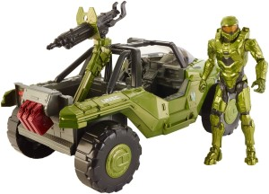 Mattel Halo Warthog with 12 Inch Master Chief Figure