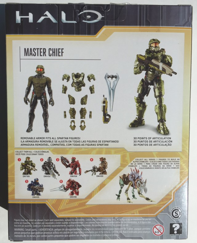 "Back of Box Halo Master Chief 6"" Mattel Figure"