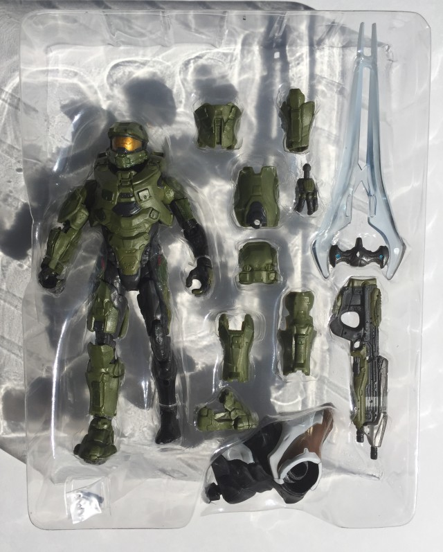 Halo Mattel Master Chief Figures and Accessories in Package