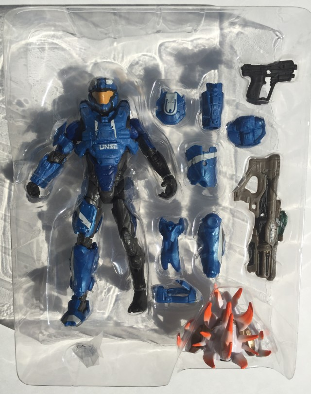 "Mattel Halo 6"" Blue Air Assault Spartan and Accessories"
