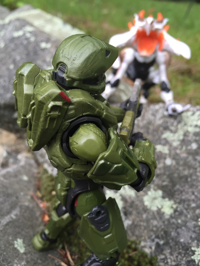 Master Chief Mattel Halo Figure Firing on Alpha Crawler