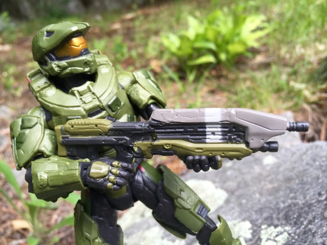 Close-Up of Mattel Halo Assault Rifle for Six Inch Figures