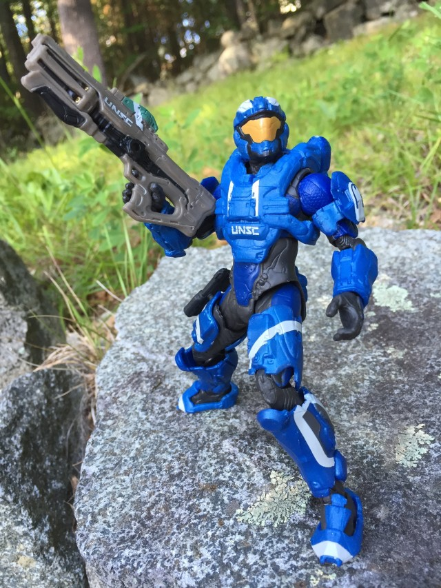 Mattel Halo Collector Series Blue Air Assault Spartan Action Figure