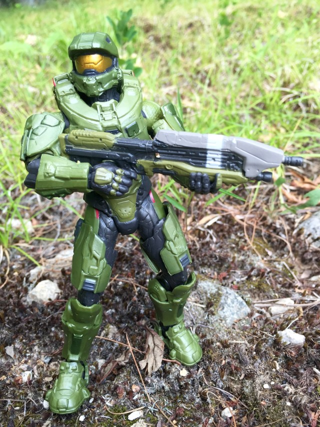 Mattel Halo Master Chief Six Inch Figure with Assault Rifle