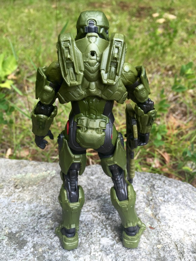 Back of Mattel Halo The Master Chief Figure
