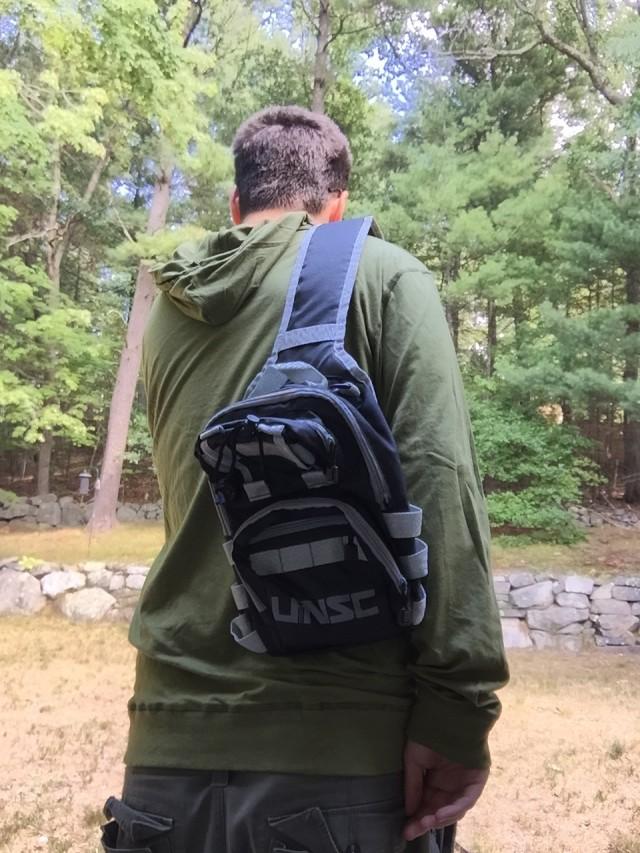 Dabid Wearing Halo Backpack Loot Crate